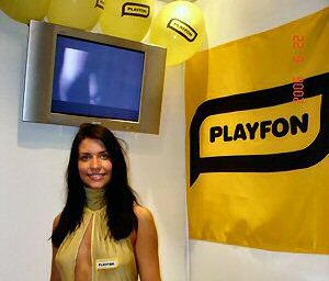 """PLAYFON"" company booth"